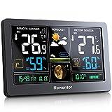 Newentor Wetterstation mit Außensensor Funk Multifunktionale Funkwetterstation Thermometer...